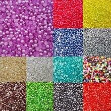 LNRRABC Sale 300 piece/lot 6MM Half Round Acrylic Imitation Flatback Pearl Beads for Jewelry Making Decoration Nail Art Phone