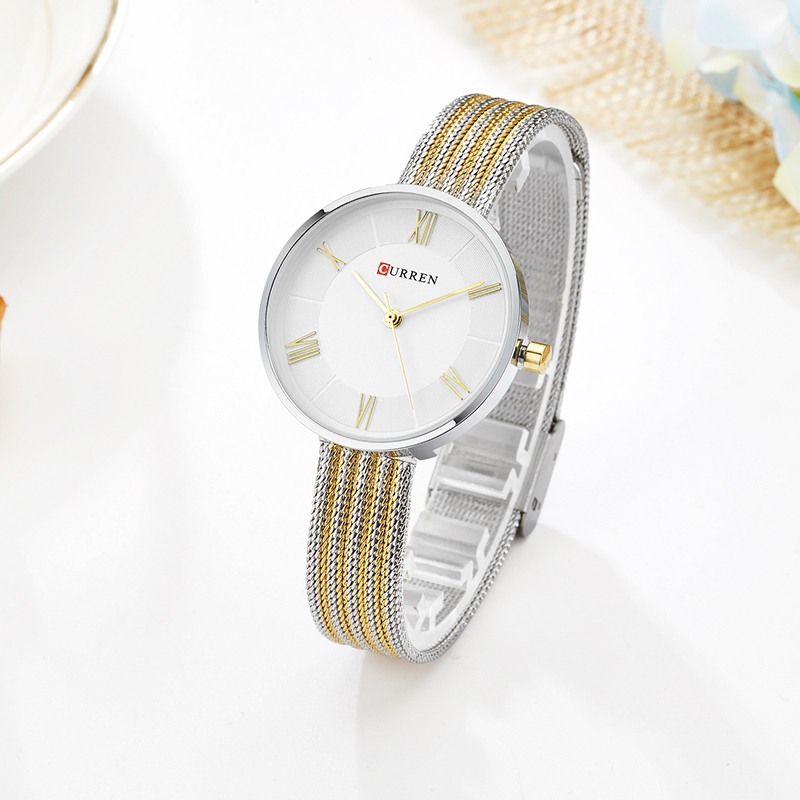 CURREN Woman Watches 2017 Brand Luxury Woman Quartz Watch La