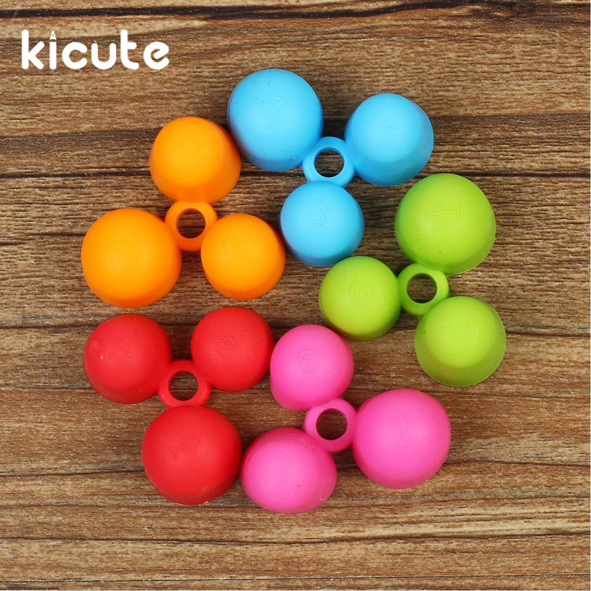 Kicute 5pcs/lot Pencil Grips Occupational Therapy Handwriting Aid Students School Stationery Pen Control Right Silicone Writing
