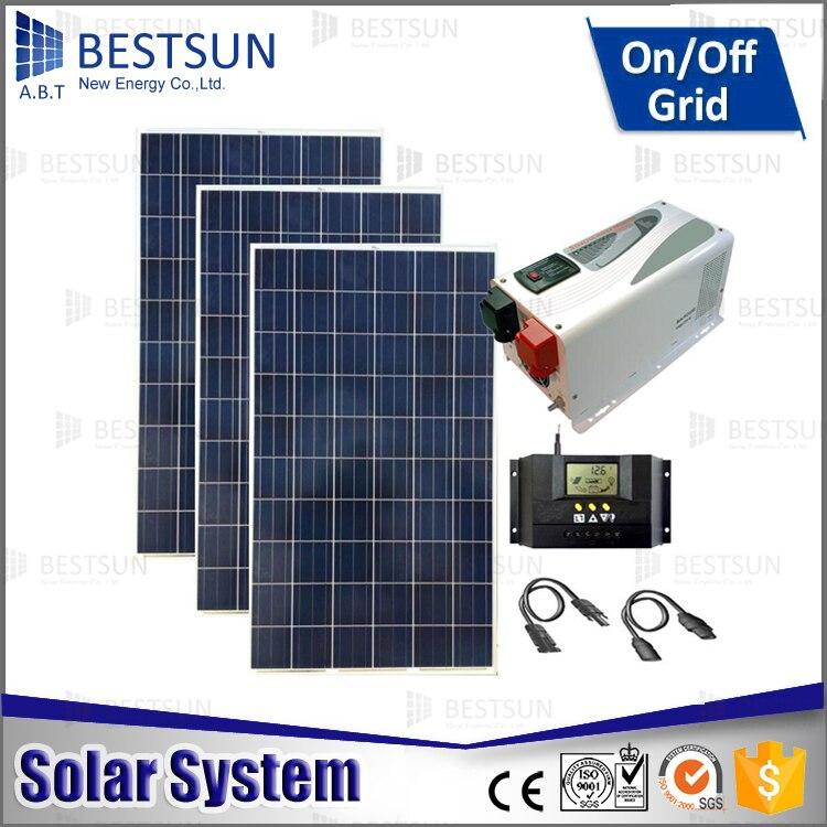 CE, UL approved 3kw grid tie solar electirc power system ...
