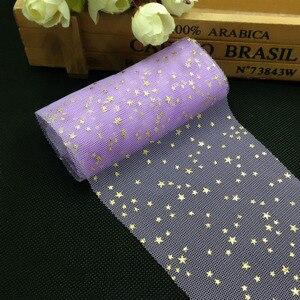Image 3 - Tulle confettis à paillettes, 5m/rouleau, 6cm, décoration de gâteau, anniversaire et mariage bricolage même
