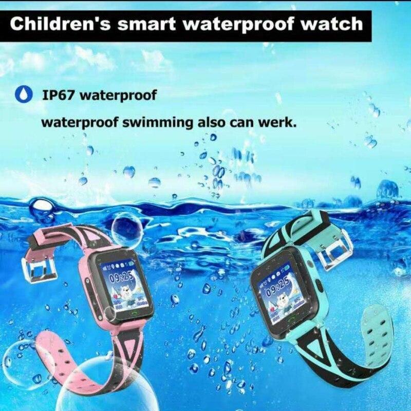 573c05f97aba Los niños reloj inteligente rastreador GPS relojes impermeable IP67 HD 1