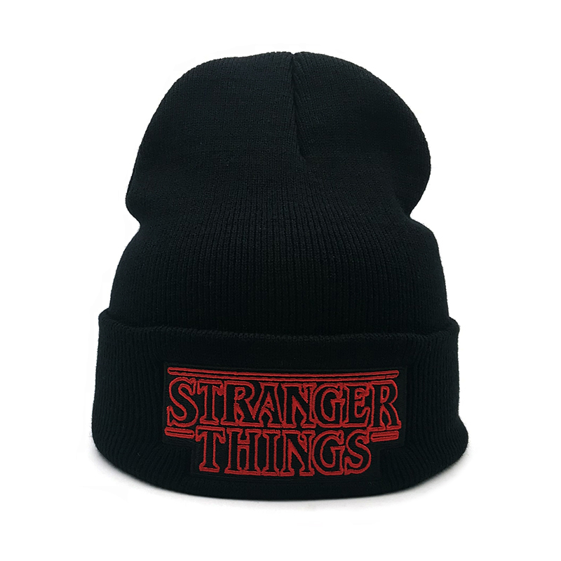 New Men Women Teenagers Warm Beanine Winter Hat Dustin Stranger Things Dustin Black Knit Beanie Cap Hat For Men Women Youth
