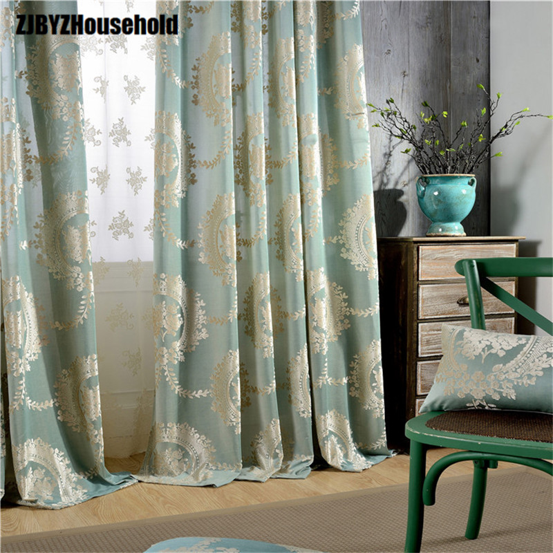 Spot The Sitting Room Bedroom Curtain Cloth vävt av Europa Typ Jacquard Gardiner för vardagsrum Strikte Flannelette