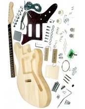 Free shipping F-Jaguar  electric guitar kit,unfinish guitar,Diy electric guitar with P90 pickups