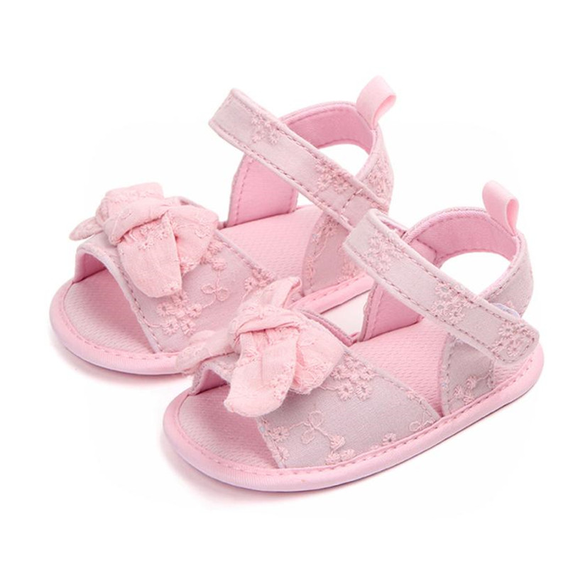 ARLONEET Baby Casual Shoes Fashion Floral Bow Soft Anti-slip Princess Shoes Newborn Walking Shoe Drop Shipping Wholesale 30S65