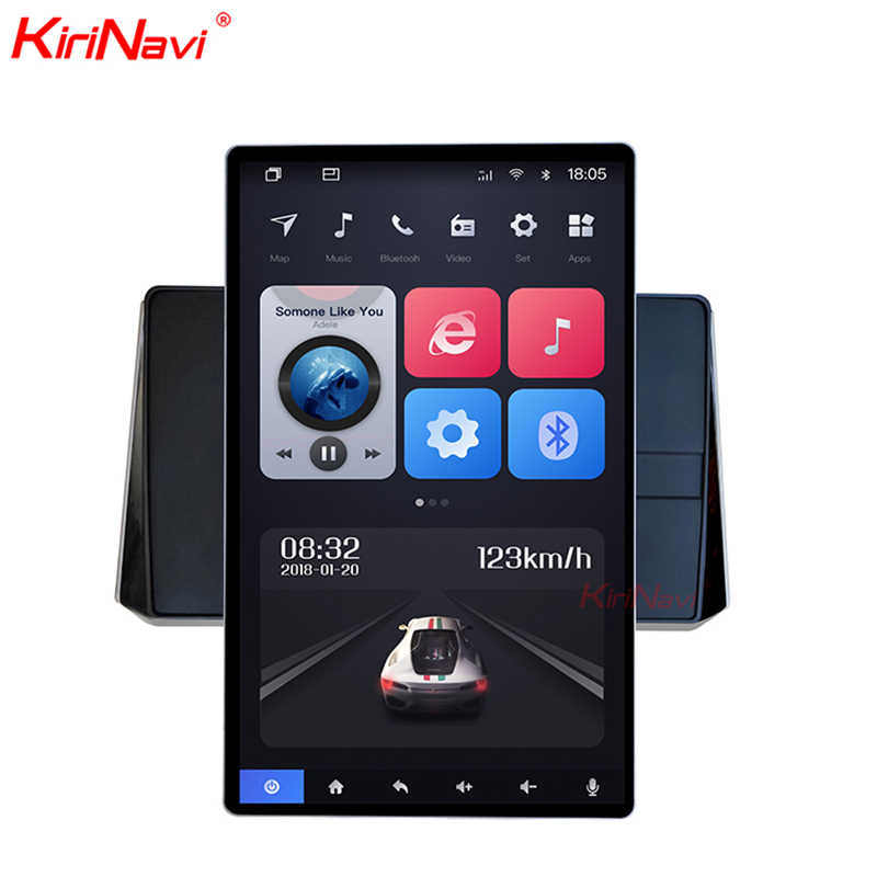 "Kirinavi Universele Verticale Screen Tesla Stijl Radio Android 10.4 ""Video Roterende Flexibele Scherm Facing Panel Auto Dvd Speler"