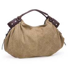 New Arrival Girl Handbag New Fashion Women Bags Canvas Tote Freitag Bag Female Messenger Tote With Pu Leather Handle