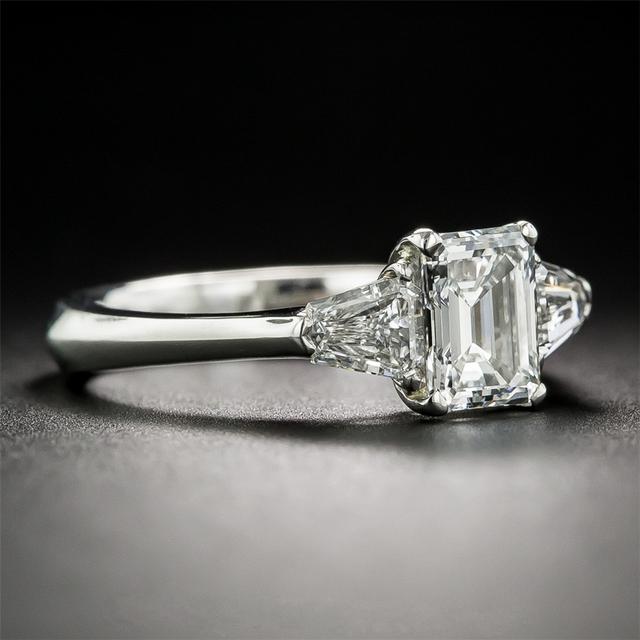 14K White Gold 1CT Lab Grown Diamond Engagement Wedding Ring