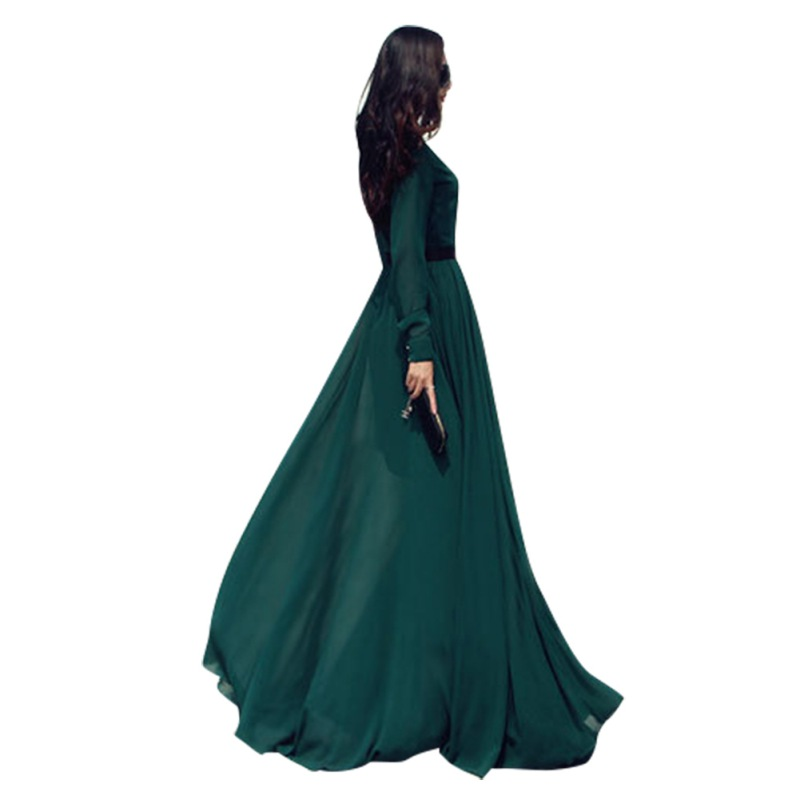 49924de4b1e New Women Summer Sexy Evening Party Dresses Long Sleeve Cocktail Maxi Long  Dress-in Dresses from Women s Clothing   Accessories on Aliexpress.com