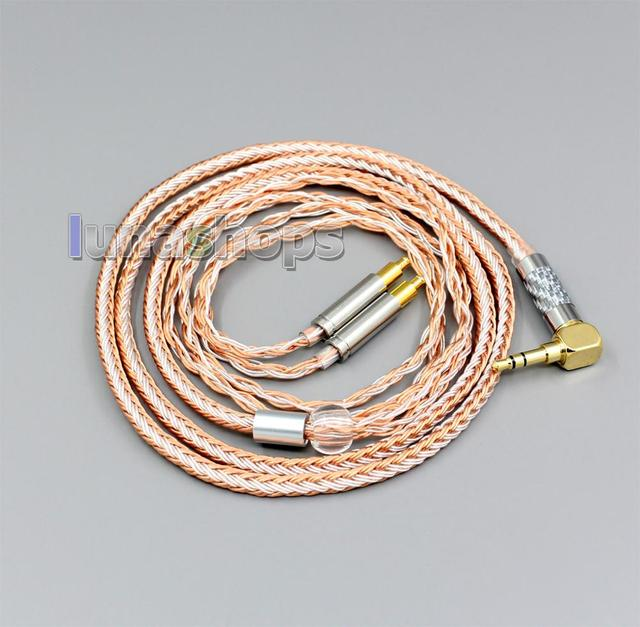 3,5mm 2,5mm 4,4mm XLR Ausgewogene 16 Kerne OCC Silber Überzogene Kabel Für Audio Technica ATH-ADX5000 ATH-MSR7b 770H 990H A2DC LN006394