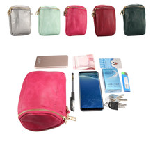 Double Multifunction Phone Bag For Samsung Galaxy J330 J530 J730 2 Pocket Zipper Modern PU Leather Bucket Bag Wallet Coin Purse(China)