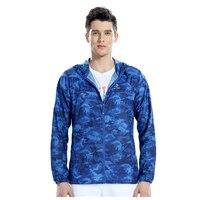 Tectop Yaz açık giyim ince rüzgar geçirmez güneş koruyucu giyim (Kraliyet mavi kamuflaj erkek)