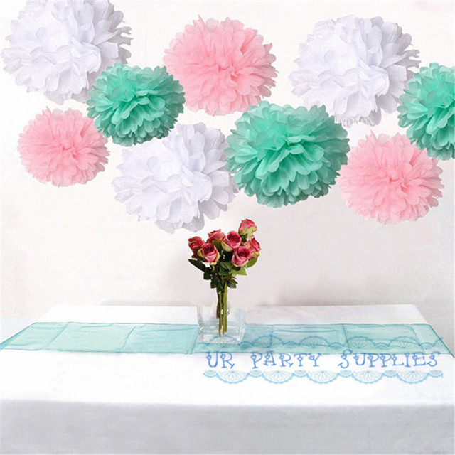 200pcs mixed pink mint green white diy tissue paper flower 20cm pom 200pcs mixed pink mint green white diy tissue paper flower 20cm pom poms wedding birtday baby mightylinksfo