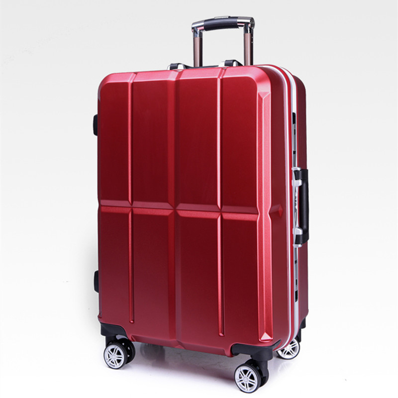 Aluminum Frame Luggage Hardside Rolling Trolley Bag Luggage travel Suitcase 20 Carry on Luggage 20 24 Inch Checked Wheels Bags