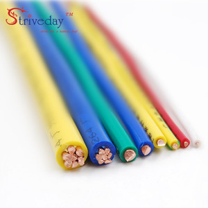 Image 5 - 5/10/50/100 Meters ZR BV 0.5mm Square Single core hard Wire Home Improvement Household Wiring Copper Electronic Wire Conductor
