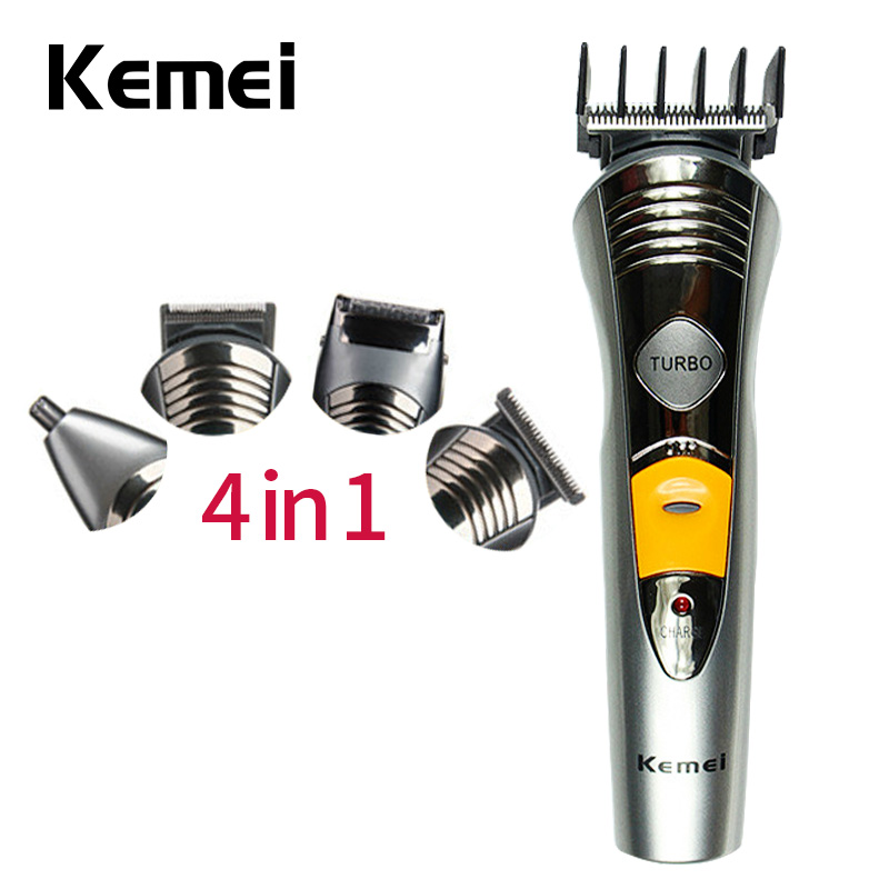 kemei 7-in-1 Adjustable Electric Hair Clipper Professional Nose Ear Hair Trimmer Beard Shaver Rechargeable Hair Cutting Machine kemei multifunction rechargeable 3 in 1 shaver kid s hair cut clipper beard trimmer electric nose ear hair trimmer tondeuse