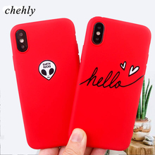 Trendy Letter phone case for iPhone X XR XS Max 8 7 6 S plus Alien cases soft silicone fitted cell Phone Accessories covers