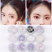 12 Color Set Mix Flake Chunky Eye Glitter Nail Decorations Face Eye Shadow  Sequins Set 05e2bad64f53