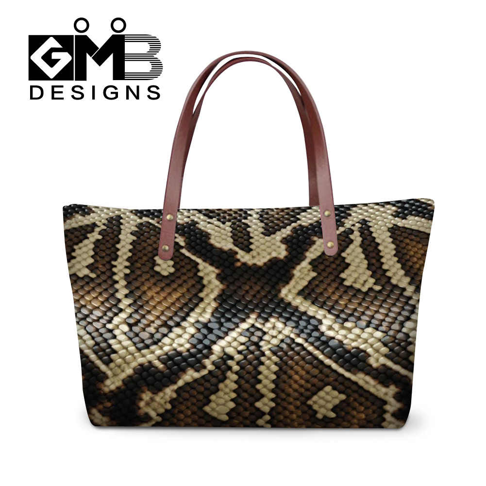 083d5967219708 Dispalang personalized snake skin printed handbags women shopping totes bags  ladies travel bag girls casual tote