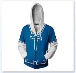Breath of the Wild Cosplay Link Zipper Hooded Sweater Coat The Legend of Zelda