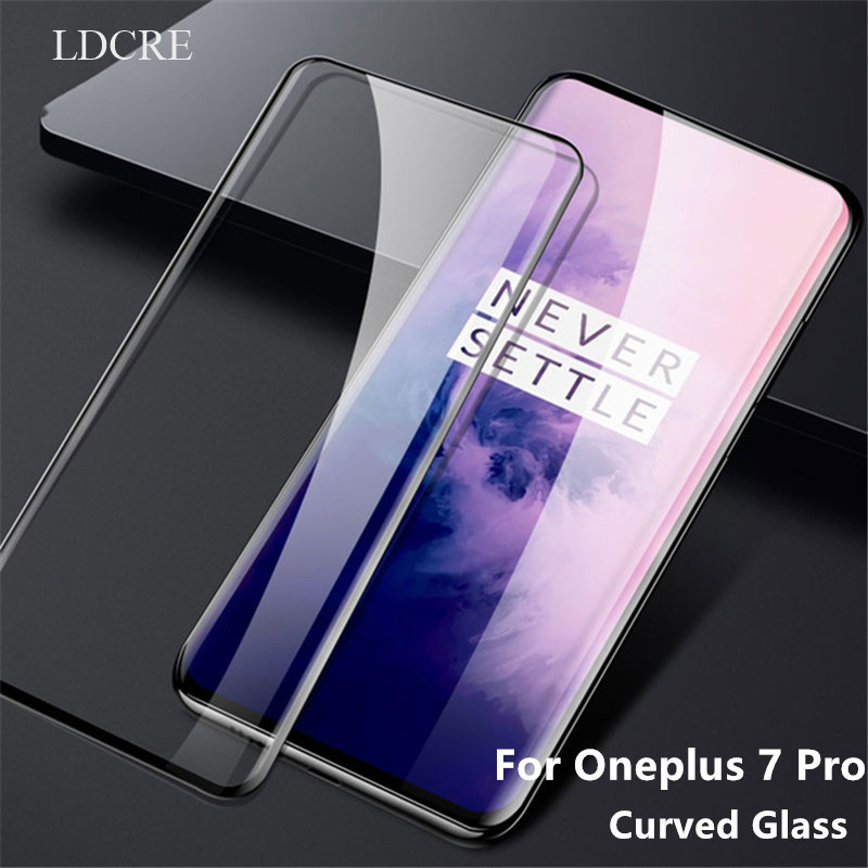 1PCS for Oneplus 7 Pro Glass Curved Screen Protector Tempered glass Film