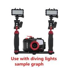 Poręczny uchwyt ściskacz stabilizator Rig podwodne nurkowanie nurkowanie taca góra dla kamera gopro hero SJCAM Camcoder Smartphone