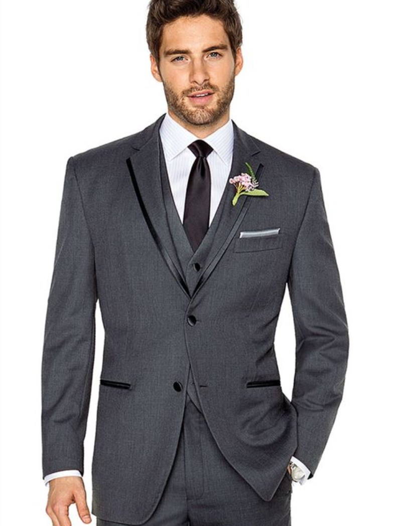prom suit men charcoal gray groom suits 2016 tot sale tailor suit ...