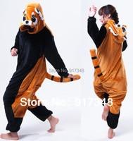 Cartoon Animal Raccoon Unisex Adult Flannel Onesies Pajamas Kigurumi Jumpsuit Hoodies Cosplay For Adults With Back