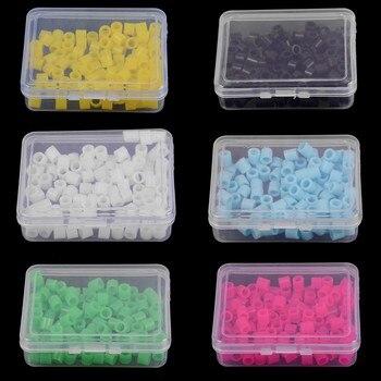 2019 nueva 100 unids/caja de ortodoncia código 6 colores Universal instrumento Dental Autoclavable anillos drop shipping