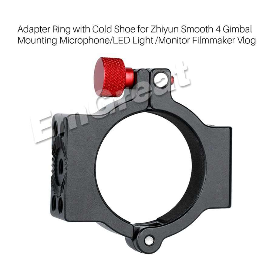 RONSHIN Hot Adapter Ring with 1//4 Cold Shoe for Gimbal Mounting Microphone//LED Light//Monitor Filmmaker Vlog for Zhiyun Smooth 4