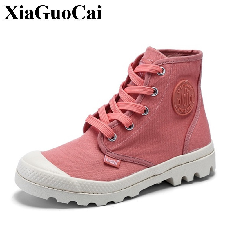 Fashion High Top Canvas Shoes Women Classic Casual Shoes Lace Up Platform Flats Shoes for Autumn&summer Student Shoes H412 35 цены онлайн