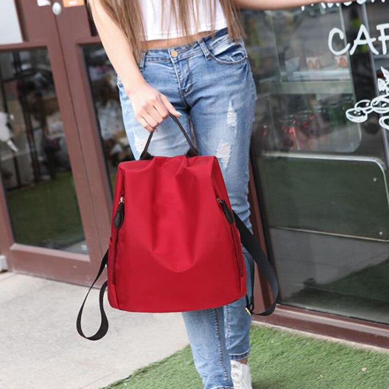 INHO CHANCY Anti-theft Women Backpack Waterproof Nylon Solid Female Shoulders Bag Fashion Contracted Travel Mochila Feminina