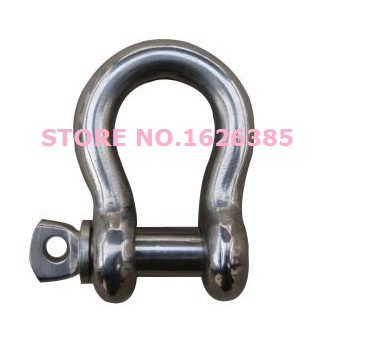 3//8 Bolt Pin Anchor Shackle Stainless Steel SS 316 Marine Rigging Paracord 5 PC
