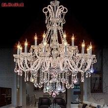 Żyrandol nowoczesna kryształowa żyrandole salon sypialnia lampa wewnętrzna K9 kryształowy połysk de teto żyrandol podsufitowy LED lights