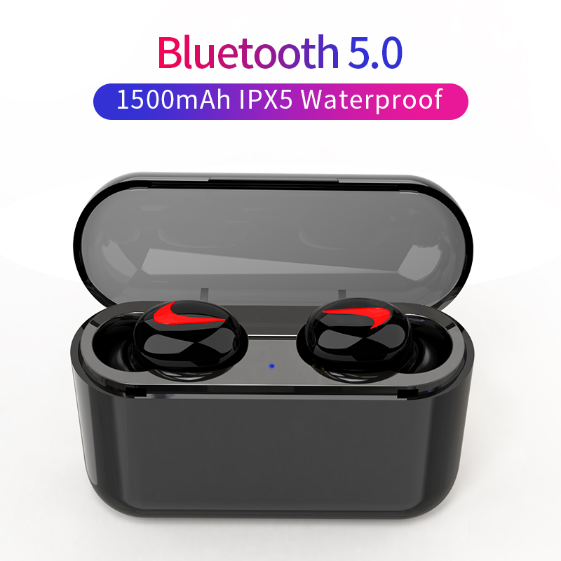 Bluetooth Earphones 5.0 HBQ Wireless Headphones Blutooth Headset Sport Earbuds Stereo Handsfree Headphone With Mic Charging Box