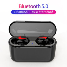 Bluetooth Earphones 5.0 HBQ Wireless Headphones Blutooth Headset Sport Earbuds Stereo Handsfree Headphone With Mic Charging Box(China)