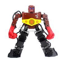 Assembled Tyson 19 DOF Humanoid Robot Frame Kit Contest Dance Robot with Servo Boxing Glove Hood Controller PS2 Handle