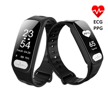 Smart WristBand R11 ECG PPG 심박수 혈압 측정 보수계 칼로리 스포츠 팔찌 iOS 용 Android