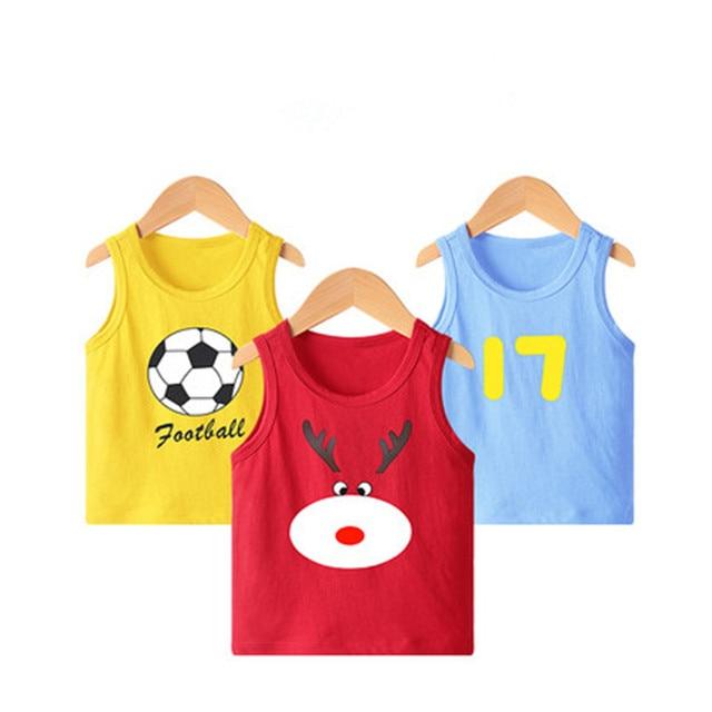 VIDMID New Summer Children Girls boys T-shirts Kids Cotton Short Sleeve Tees Casual Cartoon Tops for 2-8 year Girls boys 4101 01 2