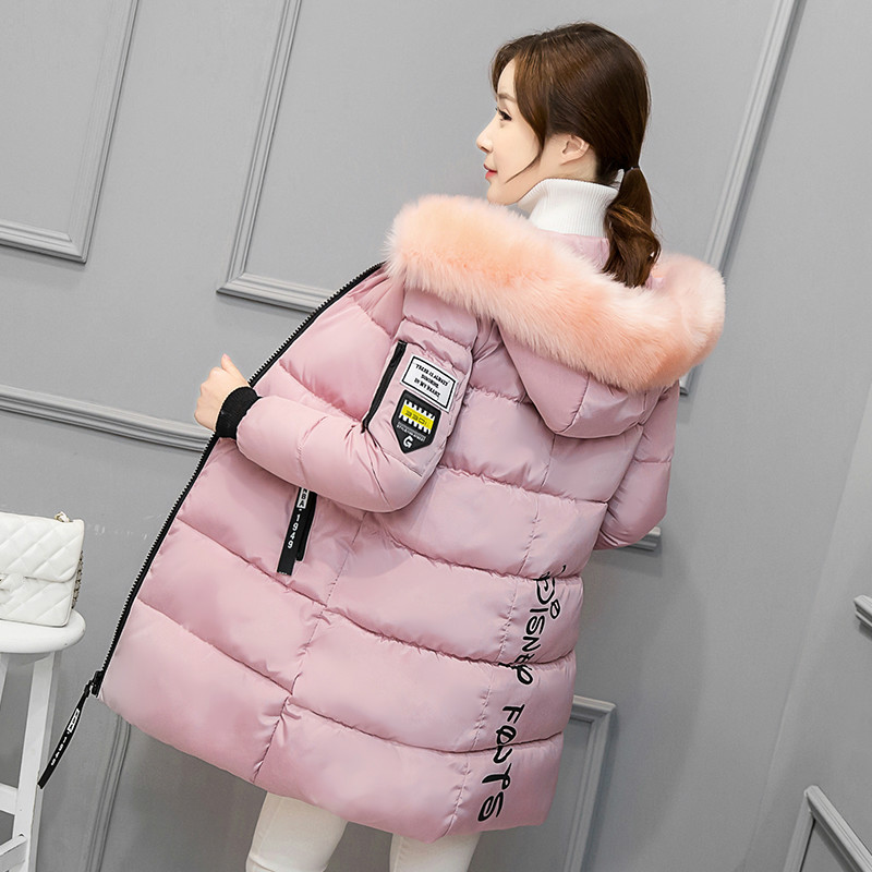 2017 Autumn Winter Jacket Women Parka Cotton Padded Winter Coat Women Parka Thick Fur Hood Outwear Plus Size dropshipping