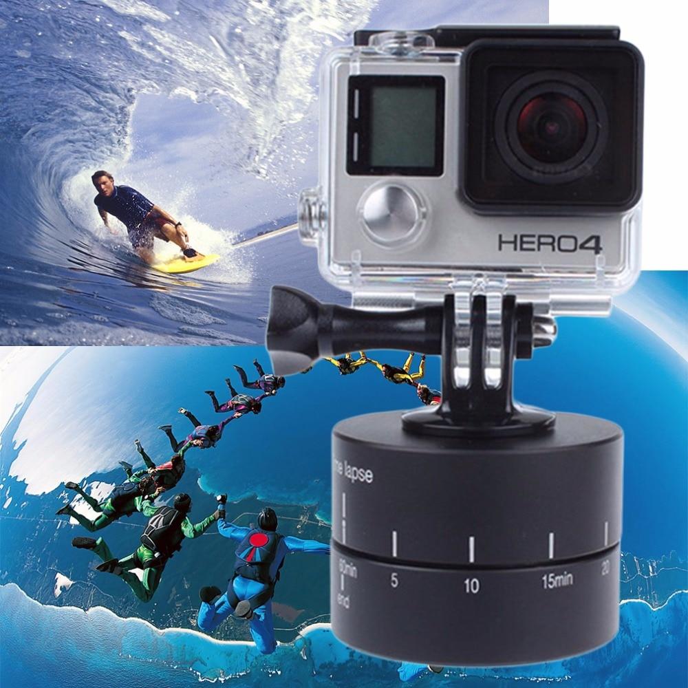 Zeitraffer 360 grad Auto Drehen Kamera stativkopf basis 360 TL timelapse Für Xiaoyi für Gopro Kamera SLR für Handy