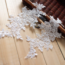 27* 12cm Refined Wedding Veil Head Ornaments Car Bone Sequined Lace Trim Dress DIY Accessories