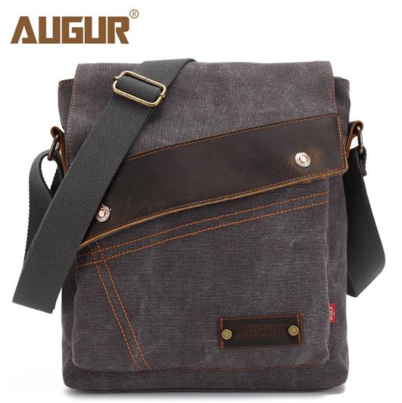Canvas Messenger Bags And Vertical Crossbody Shoulder IPAD Man's Messenger Bag School Handbag