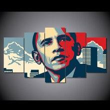 HD Impreso Impresión en Lienzo de Pintura decoración de la habitación del Presidente Barack Obama de impresión Envío Libre de la lona impresiones imagen/NY-6291