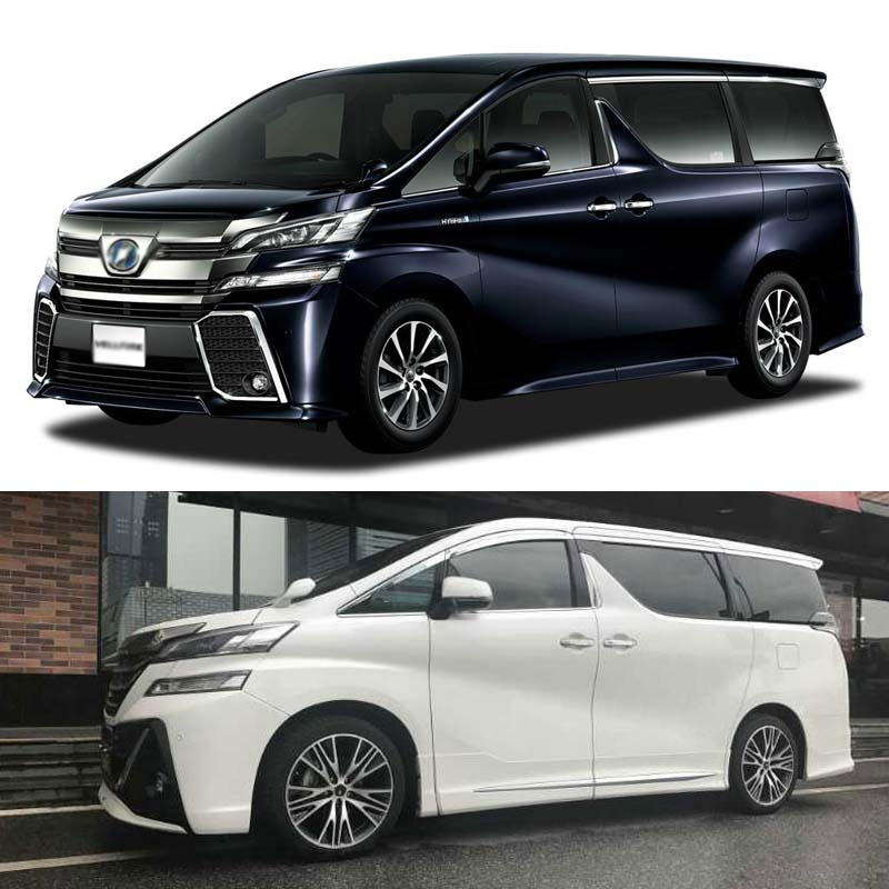 1 Set Brand New Chrome Side Vent Sun Shade Window Visors Rain Guard Deflectors For Toyota Vellfire 2015 2018 in Awnings Shelters from Automobiles Motorcycles