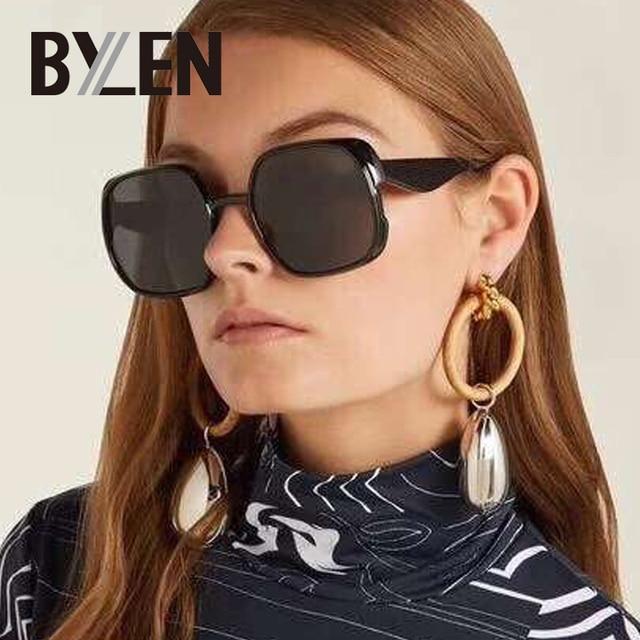 3dfe04235c New Black Oversized Square Sunglasses Women Vintage Brand Designer Summer  Style Classic Sun Glasses Female Big Shades UV400