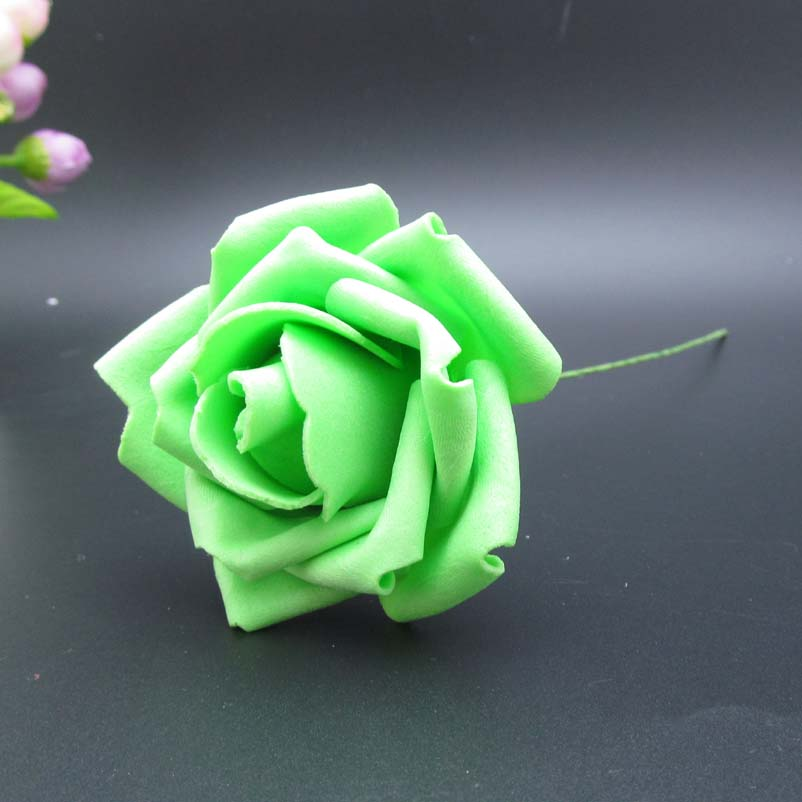 100pcs free shipping mint green artificial flowers bridal bouquet wedding decorative flowers home decor mint wedding centerpiece