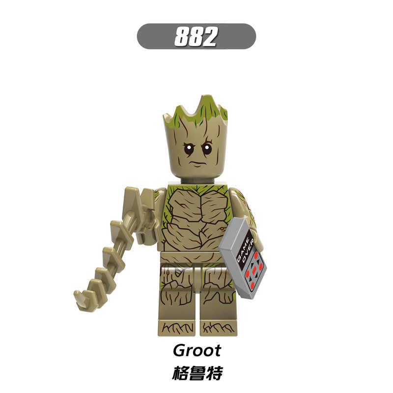 X0194 LegoINGly vengadores capitán Marvel Ant Super héroe El Hombre de Hierro araña grout supergigante Wasp bloques de construcción de juguete para niños