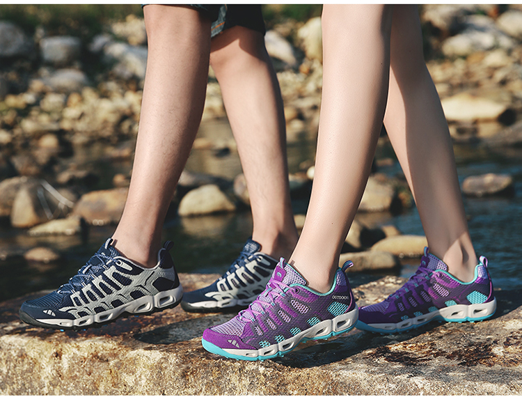 New 2017 Summer Unisex Aqua Shoes Air Mesh Clorts Outdoor Shoes Women Sneakers Lace Up Breathable Hiking Shoes Size 35-44 V1 (29)